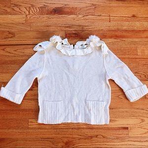🤍 Lanvin en Bleu Japan White Sweater XS